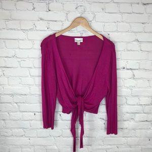 Dress Barn Pink Open Front Cardigan Cami sz XL